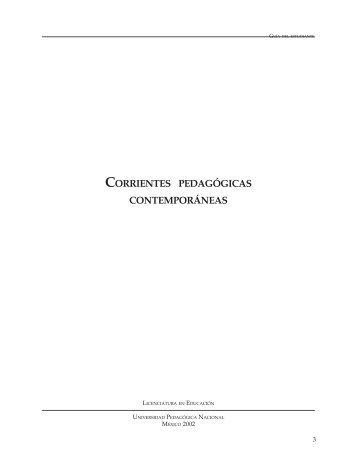 Corrientes pedagógicas contemporáneas - Universidad Pedagógica ...