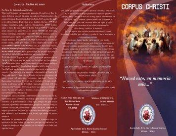 corpus triptico - Apostolado de la Nueva Evangelización