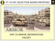 Fy 10 sfc selection board briefing - Fort Benning