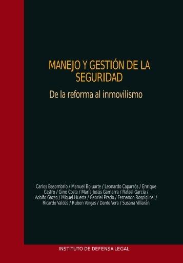 MANEJO Y GESTION DE LA SEGURIDAD - Seguridad Ciudadana