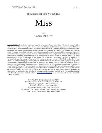 Miss - Gustavo Ott