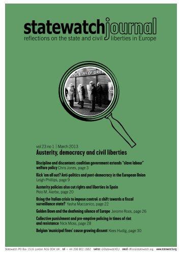 Austerity, democracy and civil liberties