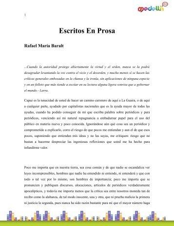 Escritos En Prosa Rafael María Baralt