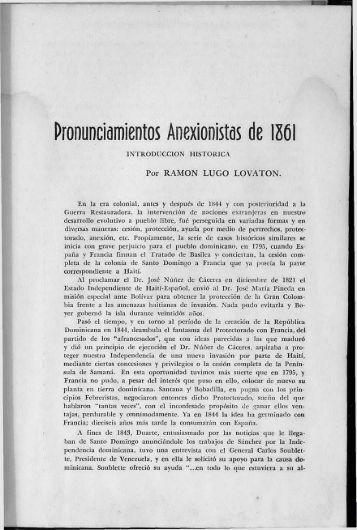 Pronunciamientos Anexionistas de 1861 - BAGN