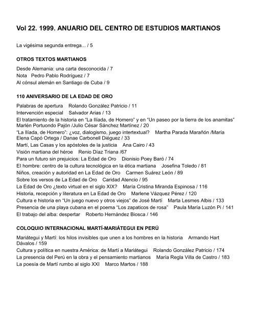 Anuario CEM No. 221999 Clacso