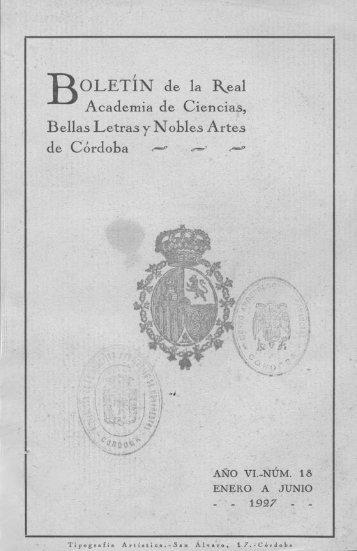 BOLETIN de la lkea1 Academia de Ciencias, Bellas Letras y Nobles ...