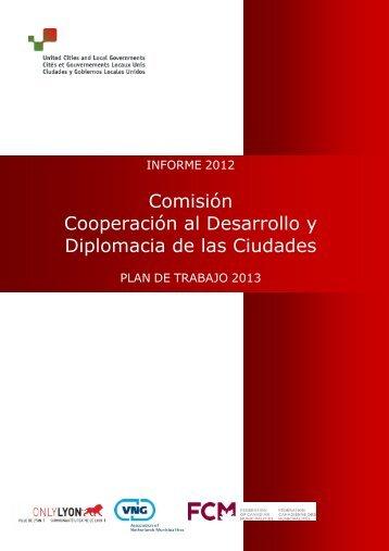 Informe 2012 Plan de trabajo 2013 - UCLG