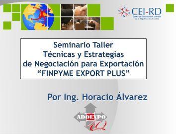 PPT Horacio Álvarez - Técnicas y Estrategias de Negicación para la ...