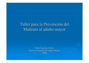 Taller para la Prevención del Maltrato al adulto mayor - Senama