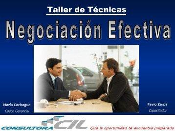Taller de Negociación Efectiva (877 KB) - Consultora CIL