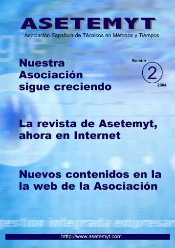 Boletín 2 - Asetemyt – Asociación Española de Técnicos en ...