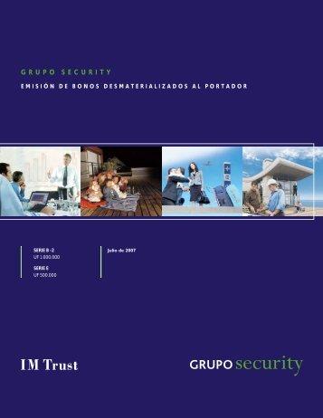 Emisión de Bonos B-2 y E - Banco Security