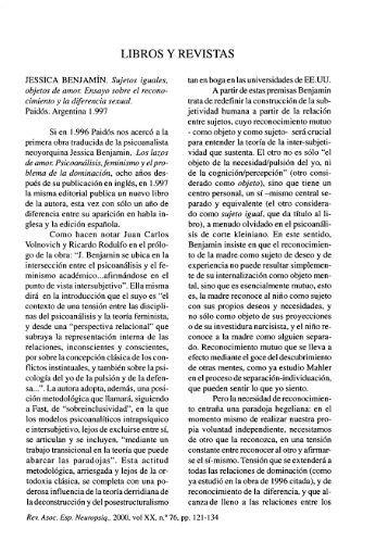 LIBROS Y REVISTAS - SciELO España