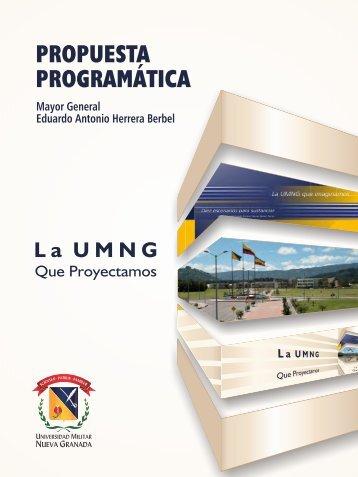 Propuesta Programatica MG. Eduardo Herrera Berbel.pdf - UMNG
