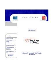 Paz Corp - Informe de Cambio de Clasificación - Abril 2012