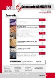 Semanario COMEXPERU Nº 362 - ComexPerú