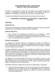 PERFIL DEL NEGOCIADOR El módulo II se desarrollará a ... - IPES