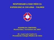 responsabilidad médica experiencia chilena - falmed - confemel.