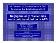 Negligencias y resiliencias en la cotidianeidad de la APS. Dr ...