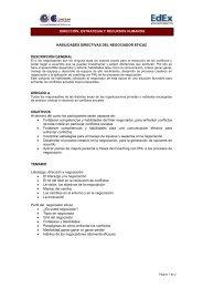 Habilidades Directivas del Negociador Eficaz - CENTRUM Católica