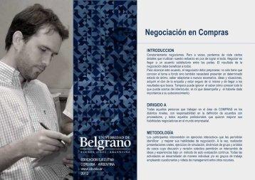 Negociación en Compras - Universidad de Belgrano