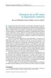 Principios de la OIT sobre la negociacion colectiva