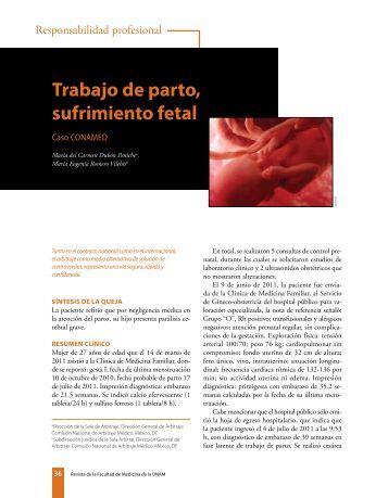trabajo de parto, sufrimiento fetal - edigraphic.com