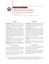 Eventos críticos en anestesia Critical Events in ... - SciELO Colombia