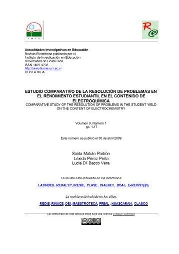 ESTUDIO COMPARATIVO DE LA RESOLUCIÓN DE PROBLEMAS ...