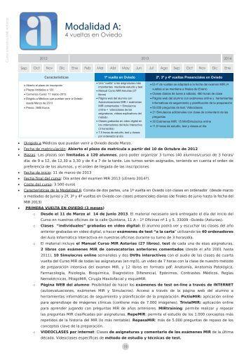 Más información - Curso Intensivo MIR Asturias