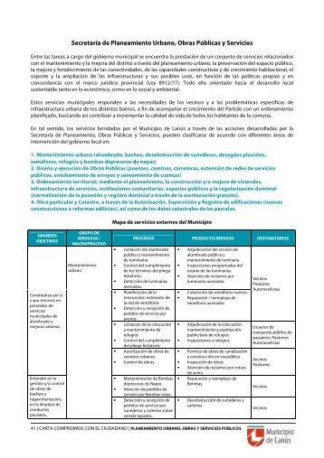 Secretaría de Planeamiento Urbano, Obras Públicas y Servicios