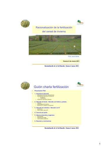 Racionalización de la fertilización en cereal de invierno