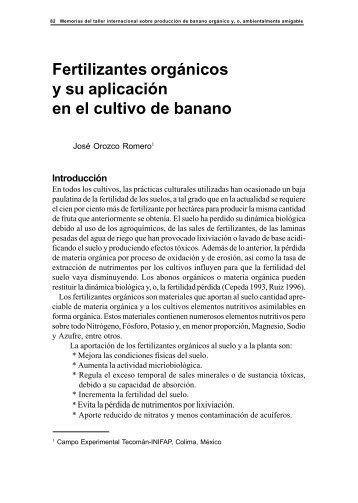 Fertilizantes orgánicos y su aplicación en el cultivo de banano