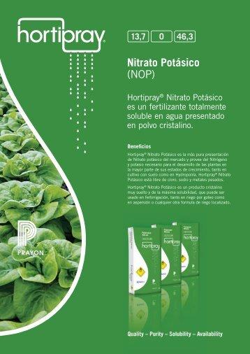 Nitrato Potásico (NOP) - Prayon