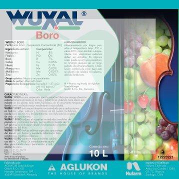 Contenido neto: WUXAL® BORO Fertilizante foliar ... - Nufarm