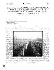 efectos de la combinación de abonos orgánicos y fertilizante ...