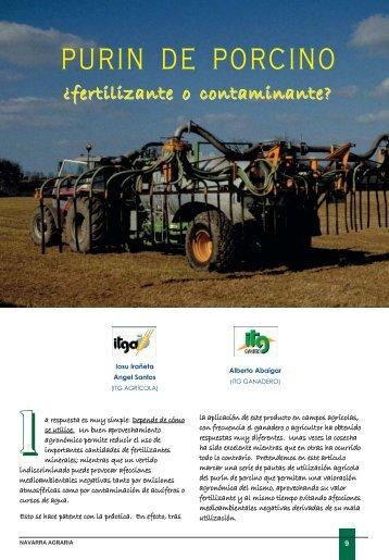PURIN DE PORCINO - Navarra Agraria
