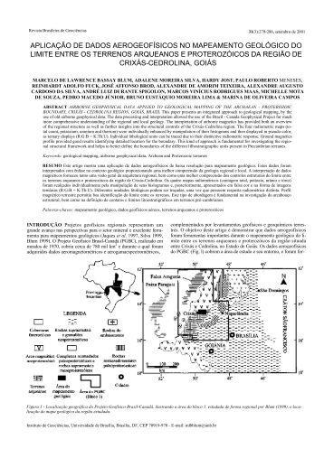 aplicação de dados aerogeofísicos no mapeamento geológico do ...