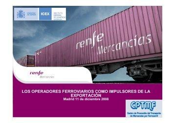 los operadores ferroviarios como impulsores de la exportación