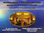 CLASIFICACION DE LAS AGUAS MINEROMEDICINALES