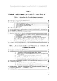 MÓDULO 5. PLANEAMIENTO Y GESTIÓN URBANÍSTICA ... - UNED