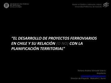el desarrollo de proyectos ferroviarios en chile y su relación ... - UPC