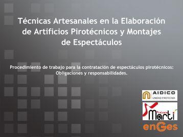 Técnicas Artesanales en la Elaboración de Artificios Pirotécnicos y ...