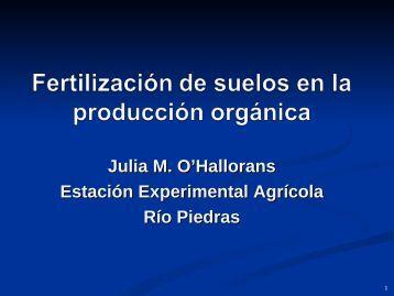 Fertilización Organica vs. Fertilización Convencional