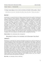 Evolução mineralógica de dois solos de referência do Estado de ...