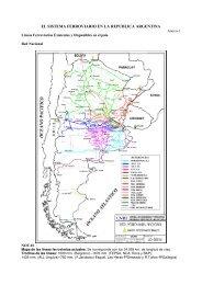 EL SISTEMA FERROVIARIO EN LA REPUBLICA ARGENTINA - APIE