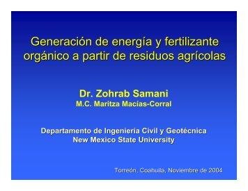 Generación de energía y fertilizante orgánico a partir de residuos ...