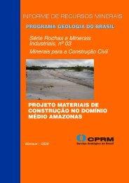 Série Rochas e Minerais Industriais, nº 03 - CPRM