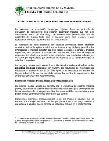 Perfil médico Certificación.pdf - Corma Bio Bio