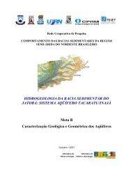 Hidrogeologia da Bacia Sedimentar do Jatobá - CPRM